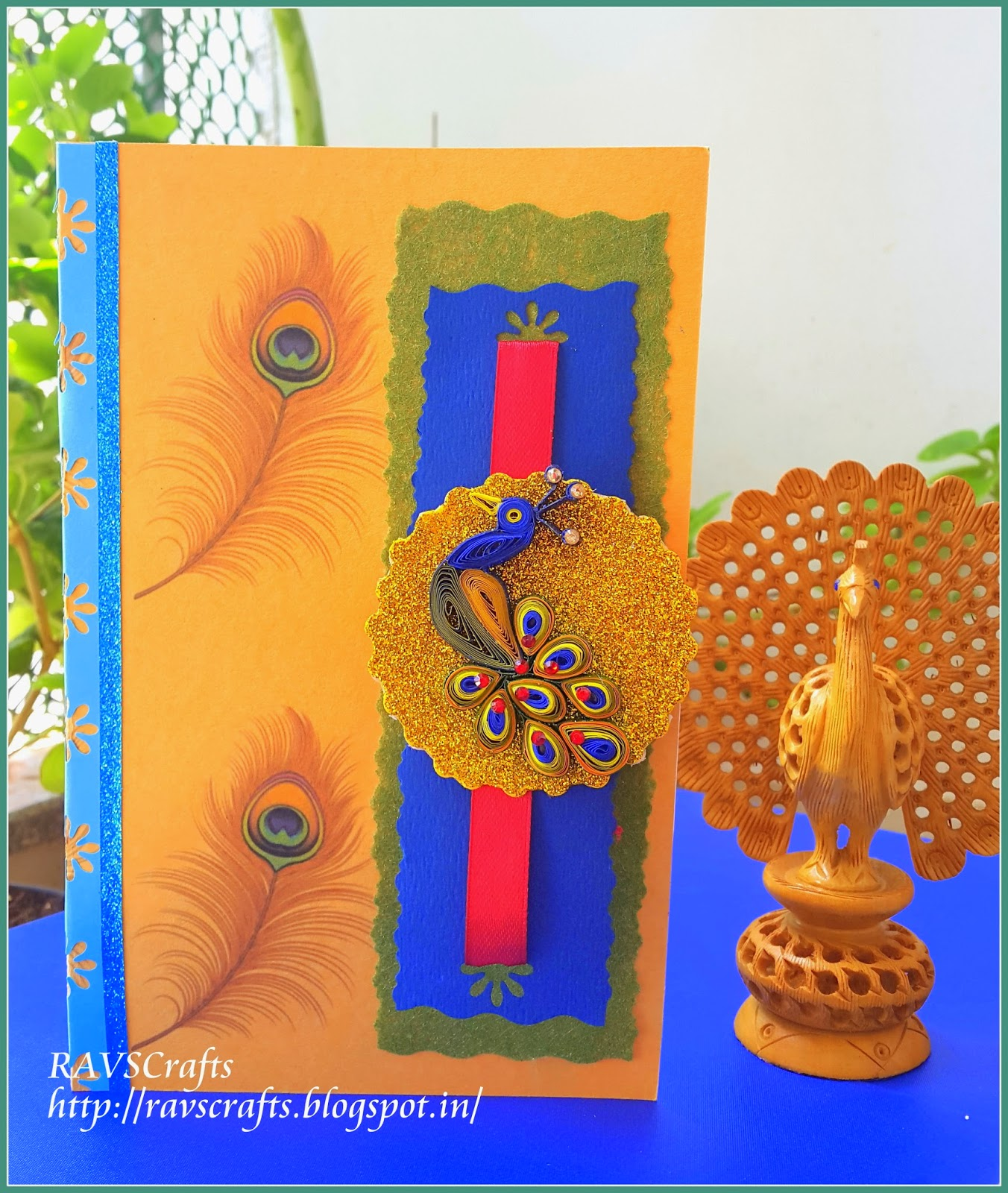 Ravscrafts Raksha Bandhan Card Pop Up Card