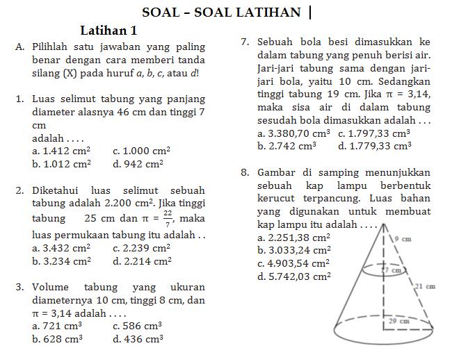Soal Latihan Bangun Ruang Sd.Soal Matematika Bangun Datar SD Kelas 5. Soal Matematika Bangun