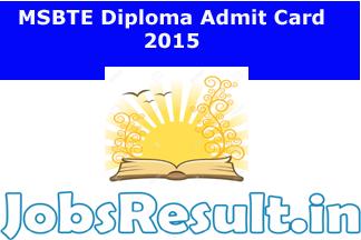 MSBTE Diploma Admit Card 2015