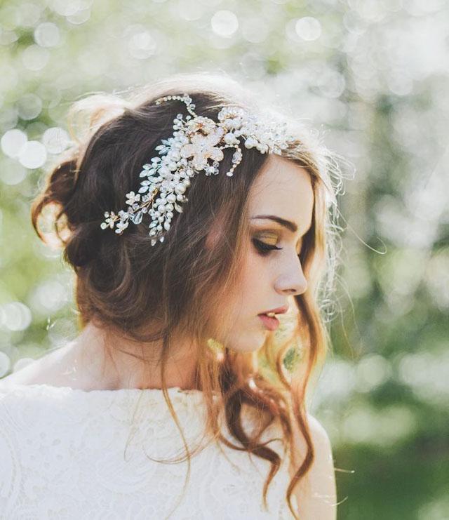 blomsterkrans til håret