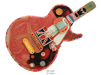 Peter Clark collage guitar