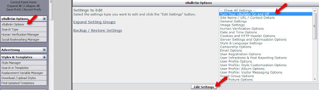 How To Set Forum Under Maintenance On vBulletin