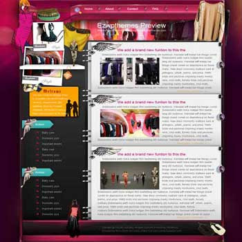 A La Mode blogger template. free blogspot template download.