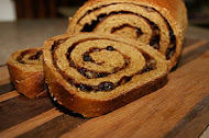 Whole Wheat Pumpkin Swirl Bread