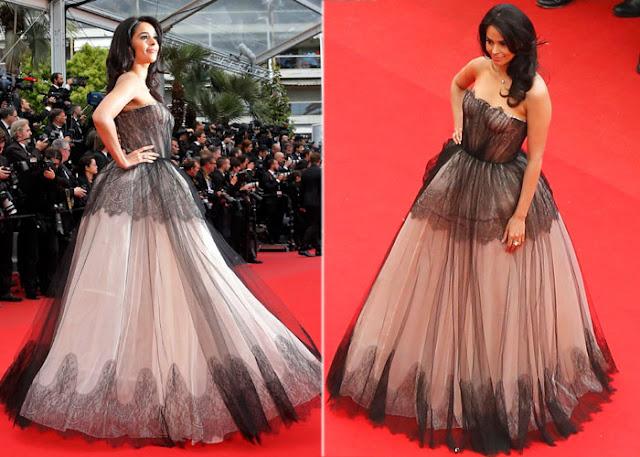 Mallika Sherawat Cannes 2013 in Dolce & Gabanna