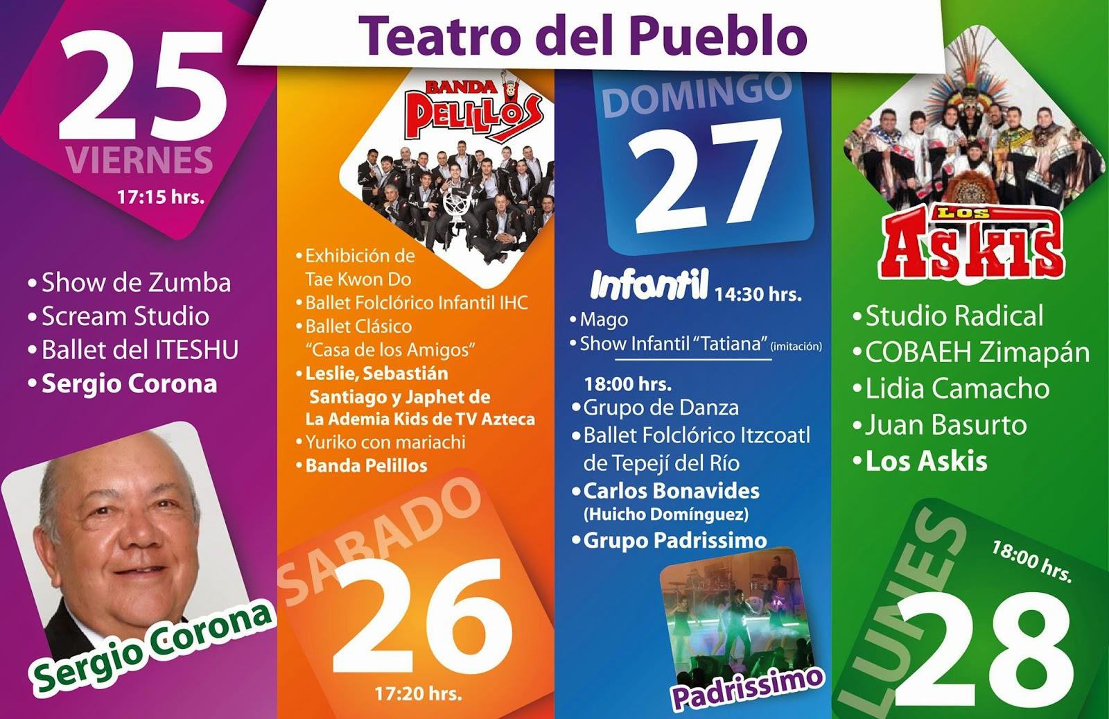 Programa teatro del pueblo feria huichapan 2014