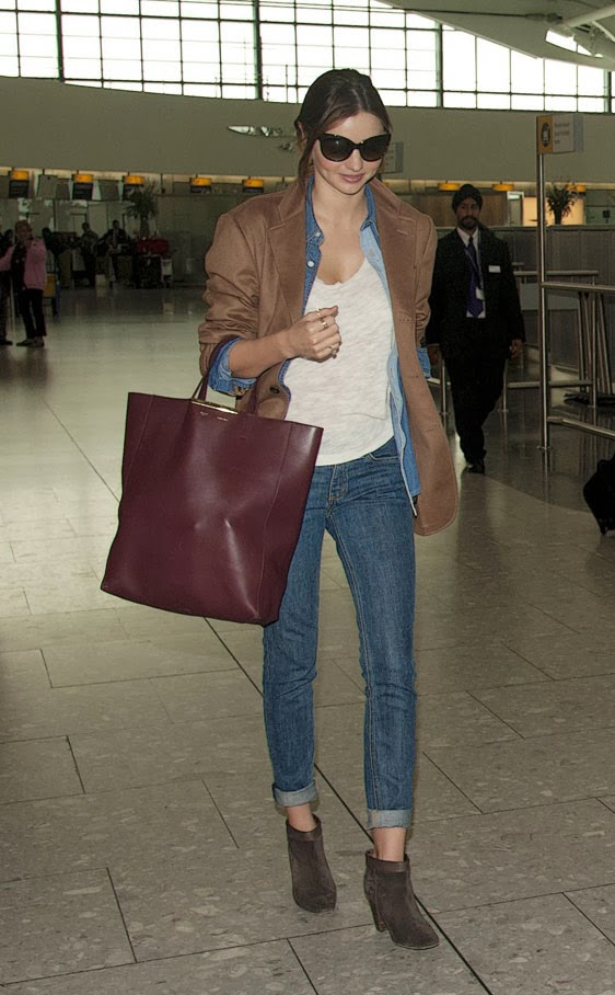 Miranda Kerr rolled-up jeans