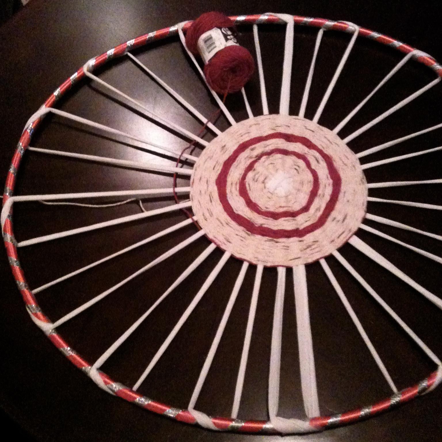 Diy: Woven Hula Hoop Rug