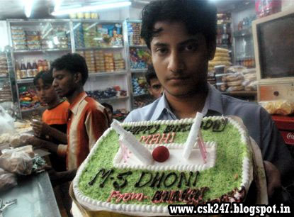 Fans Celebrate Dhoni Birthday