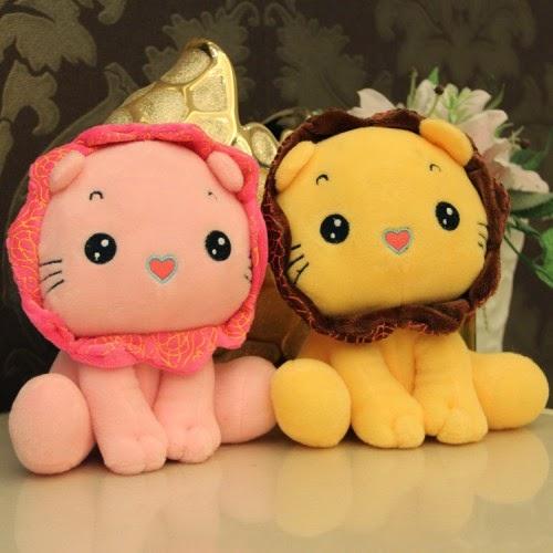 Boneka lucu berupa karakter singa.