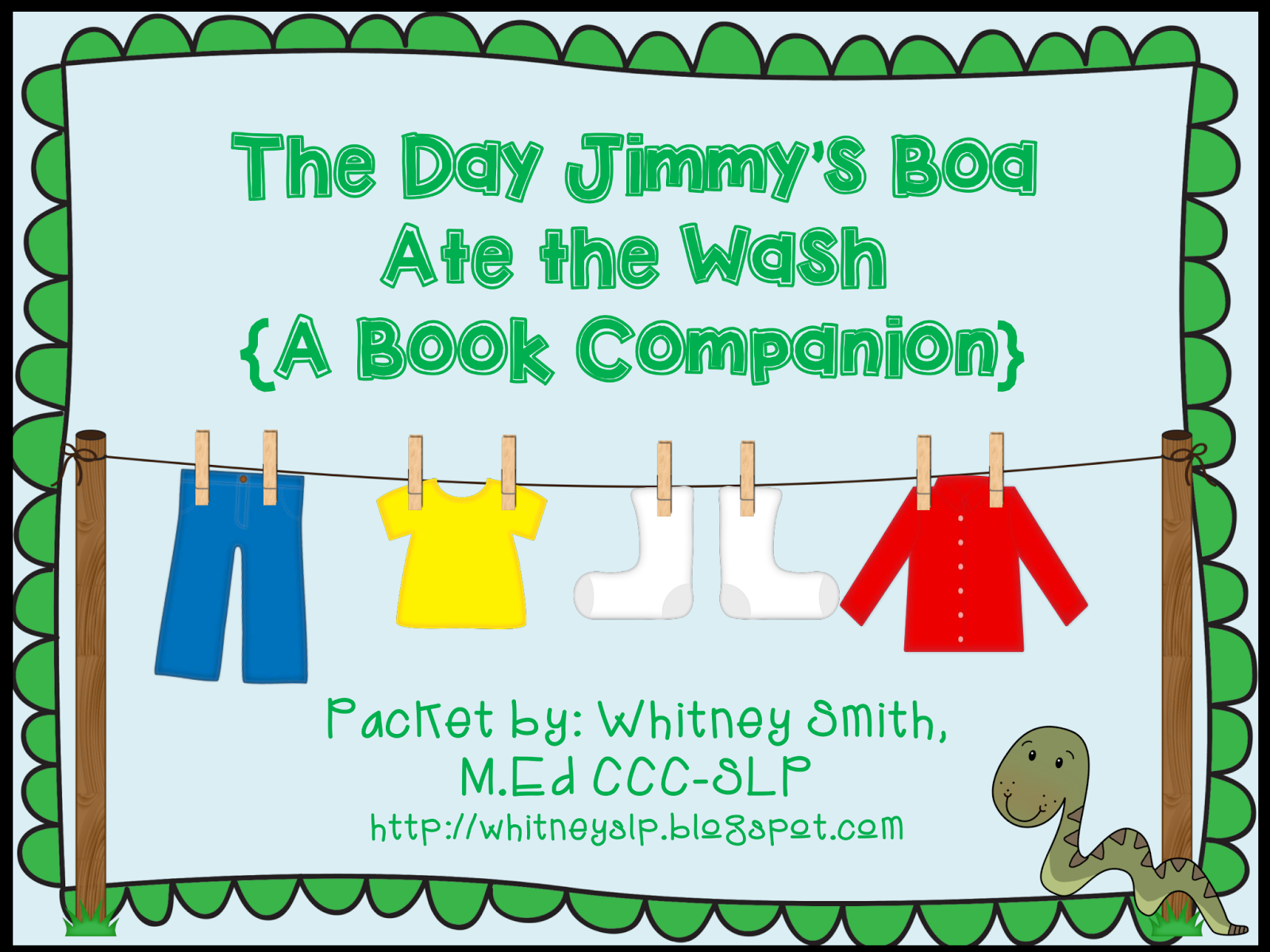 http://www.teacherspayteachers.com/Product/The-Day-Jimmys-Boa-Ate-the-Wash-Book-Companion-1201880