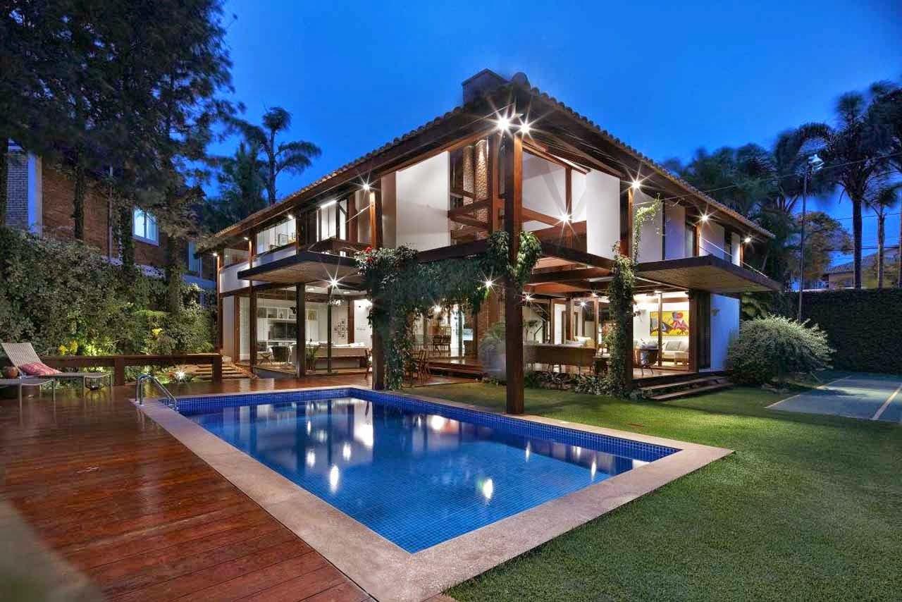 7 Desain Kolam Renang Untuk Rumah Mewah Modern Griya Inspiratif