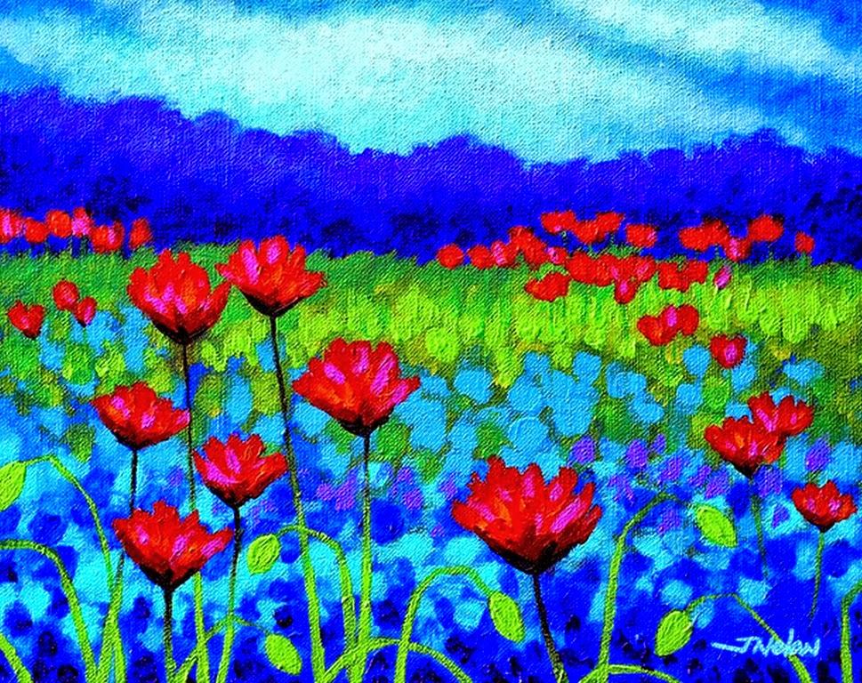 Cuadros modernos pinturas y dibujos flores modernas for Imagenes de cuadros abstractos rusticos