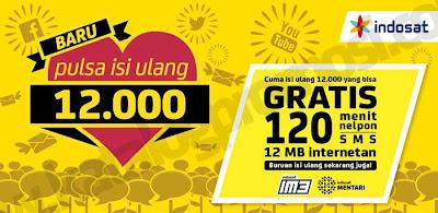 Pulsa Isi Ulang 12000 Indosat