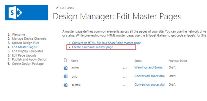 SharePoint Design Manager - Sharepoint design manager