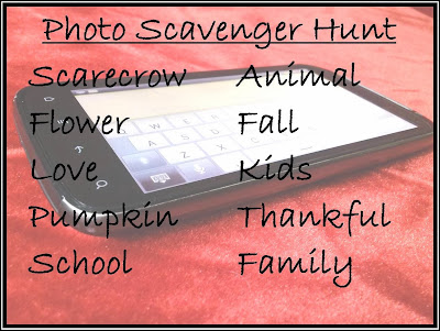 Scavenger Hunt, Picture hunt, Photo Scavenger Hunt, Fall, Pictures