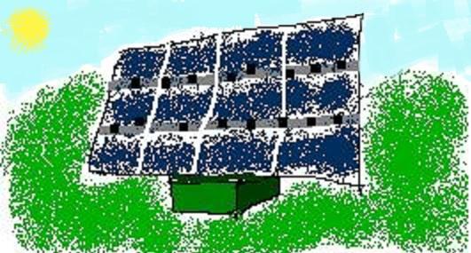 Pannello fotovoltaico a terra