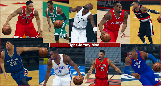 NBA 2K14 Tight Jersey Mod Final Version