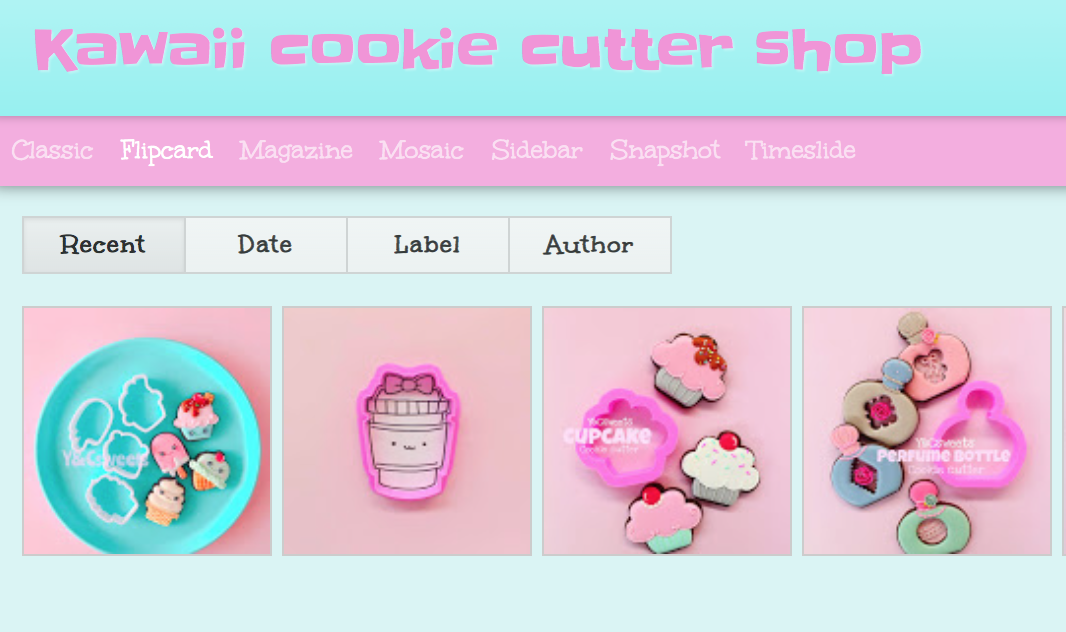 Kawaii cookie cutter shop BLOG