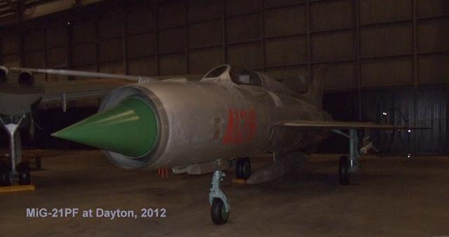 MiG-21 on display at Dayton, 2012
