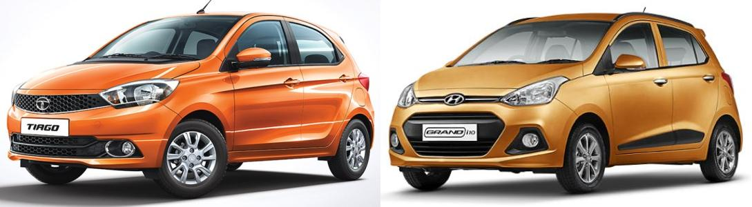 Tata Tiago vs Grand i10 Comparison