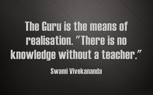 """The Guru is the means of realisation. There is no knowledge without a teacher."""