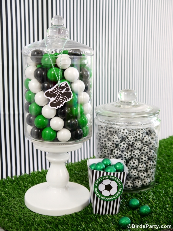 World Cup Party Ideas: Soccer Football Birthday Candy Bar Printables