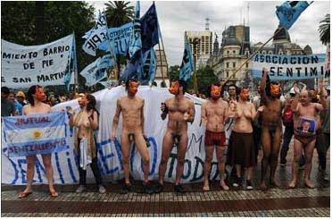 Manifestación en Pza de Mayo 2009