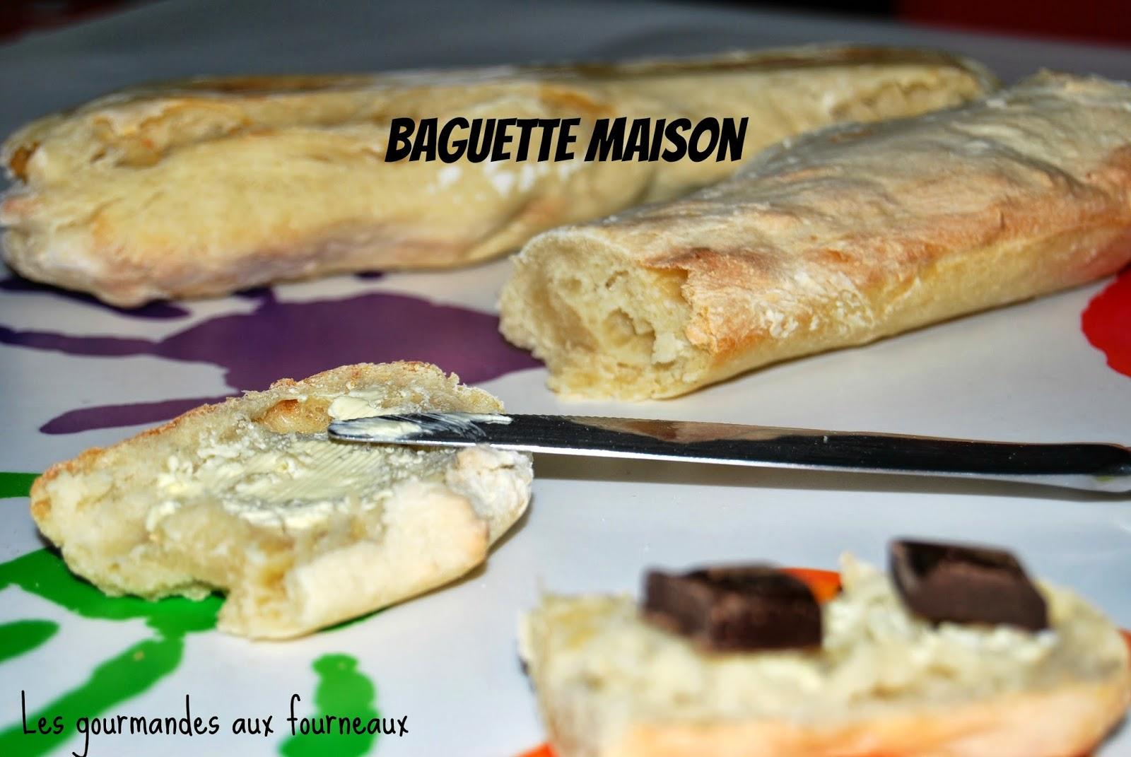 Les gourmandes aux fourneaux baguette maison for Baguette du maison