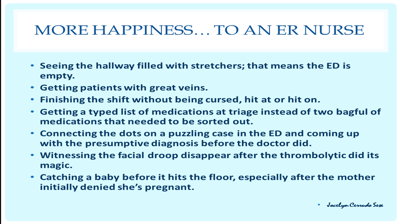 Funny Nurse Quotes Ed Vignettes Happinessto An Er Nurse