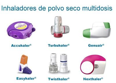 Inhaladores de polvo seco