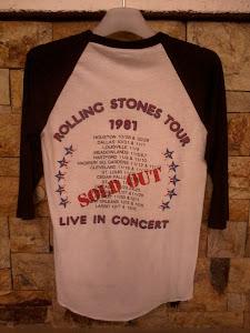 VINTAGE ROLLING STONE TOUR 81'