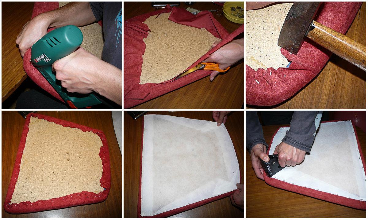 Tapizar f cil unas sillas gearecicla upcycling design - Grapas para tapizar ...