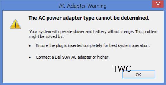 Máy tính không nhận điện của adapter?