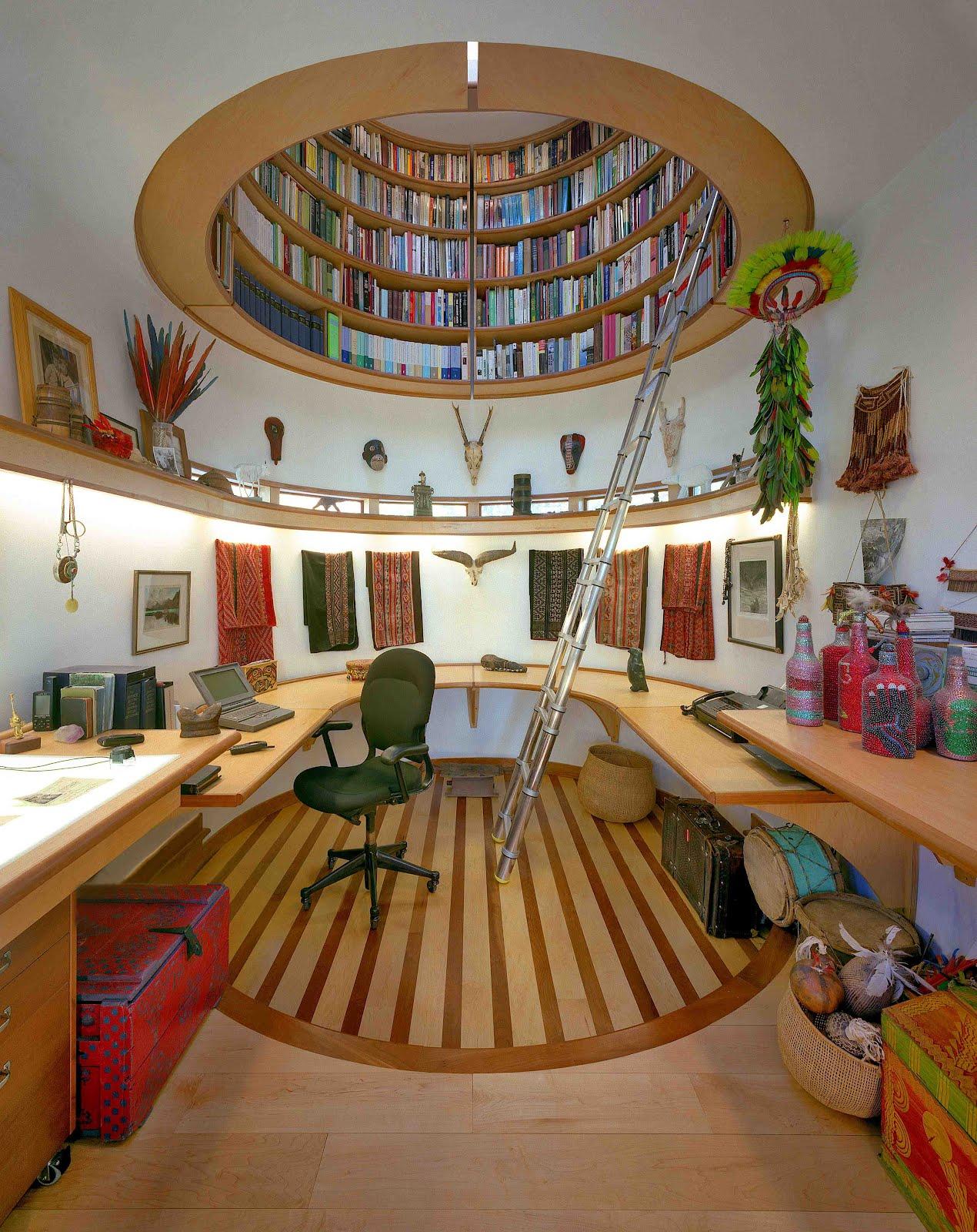 Schrijfstudio ontworpen door Travis Price voor Wade Davis.
