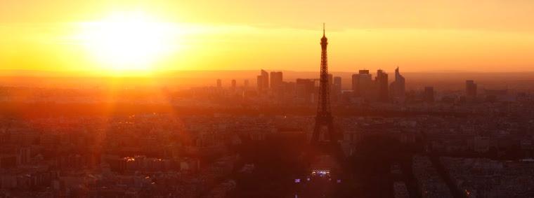 Nieregularna bryla slonca nad Paryzem
