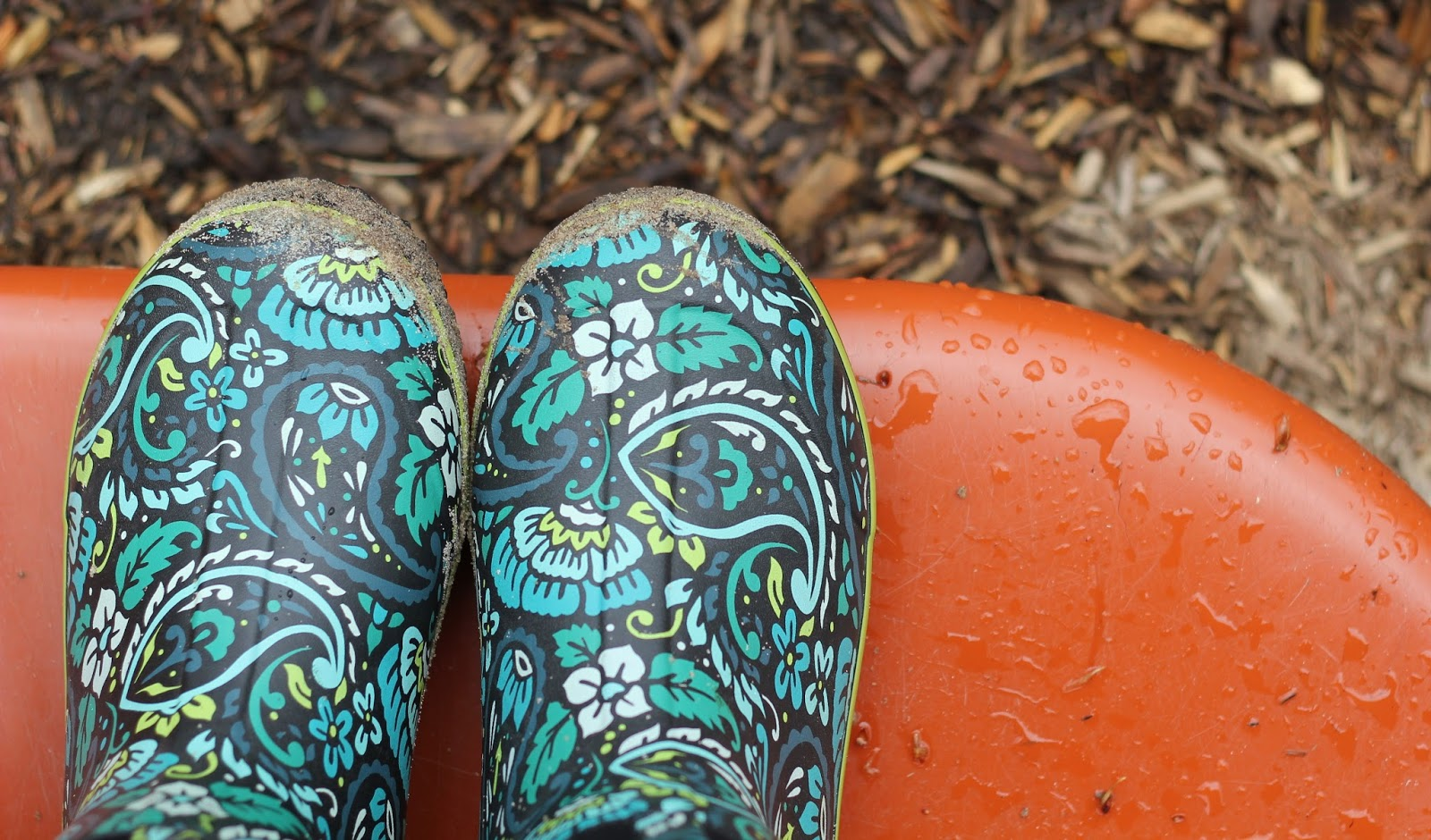 Paisley Rain Boots: The Girl with the Paisley Rain Boots