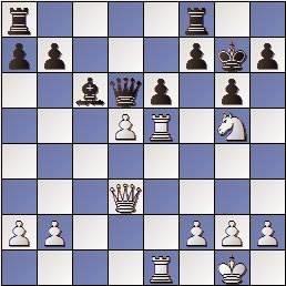 Partida de ajedrez Darga vs. O'Kelly en 1957, posición después de 20.d5