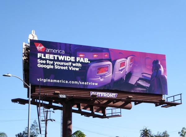 Virgin America Fleetwide fab billboard