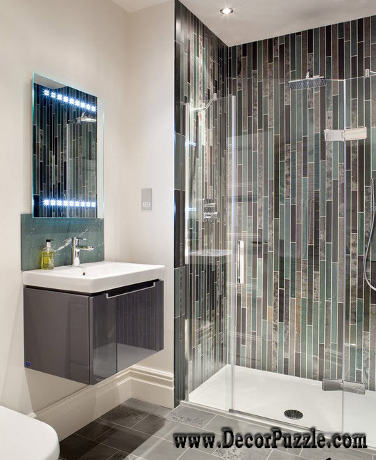Good Shower Tile Ideas, Shower Tile Designs, Tiling A Shower, Gloss Shower Tiles