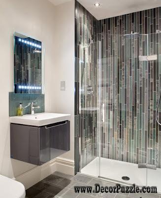 shower tile ideas, shower tile designs, tiling a shower, gloss shower tiles