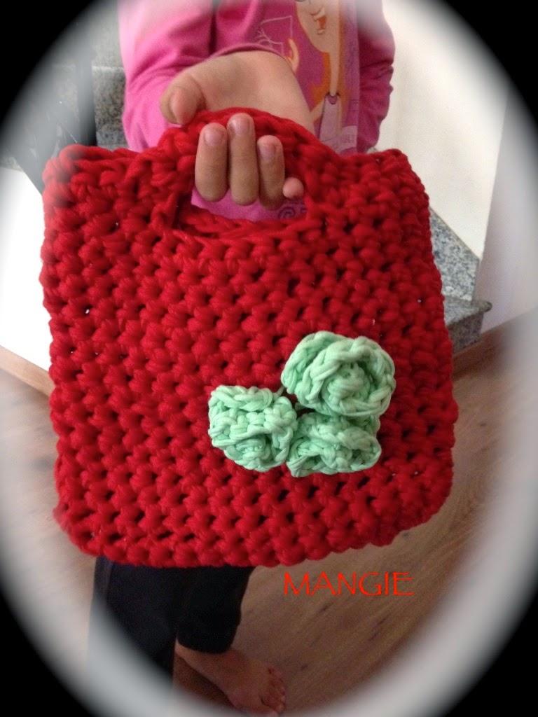 Bolso trapillo rojo niña