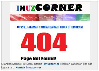 404 Page Not Found pada Blogger