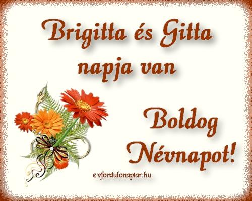 Október 11 - Brigitta, Gitta névnap