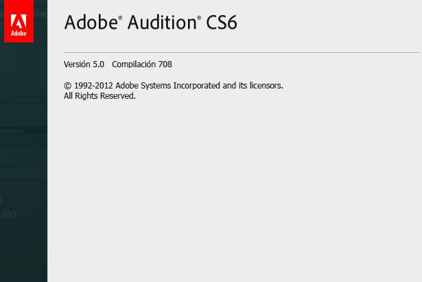 Adobe Audition CS6 v5 Español Descargar 1 Link 2012