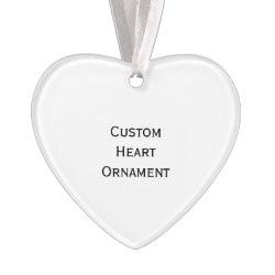 Custom Heart Photo Acrylic Christmas Ornament