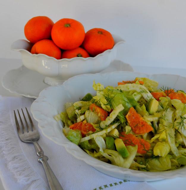Lettuce Salad with Fennel, Mandarin Oranges, Avocado and an Orange ...
