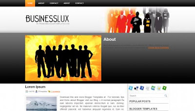 BusinessLux Blogger Template