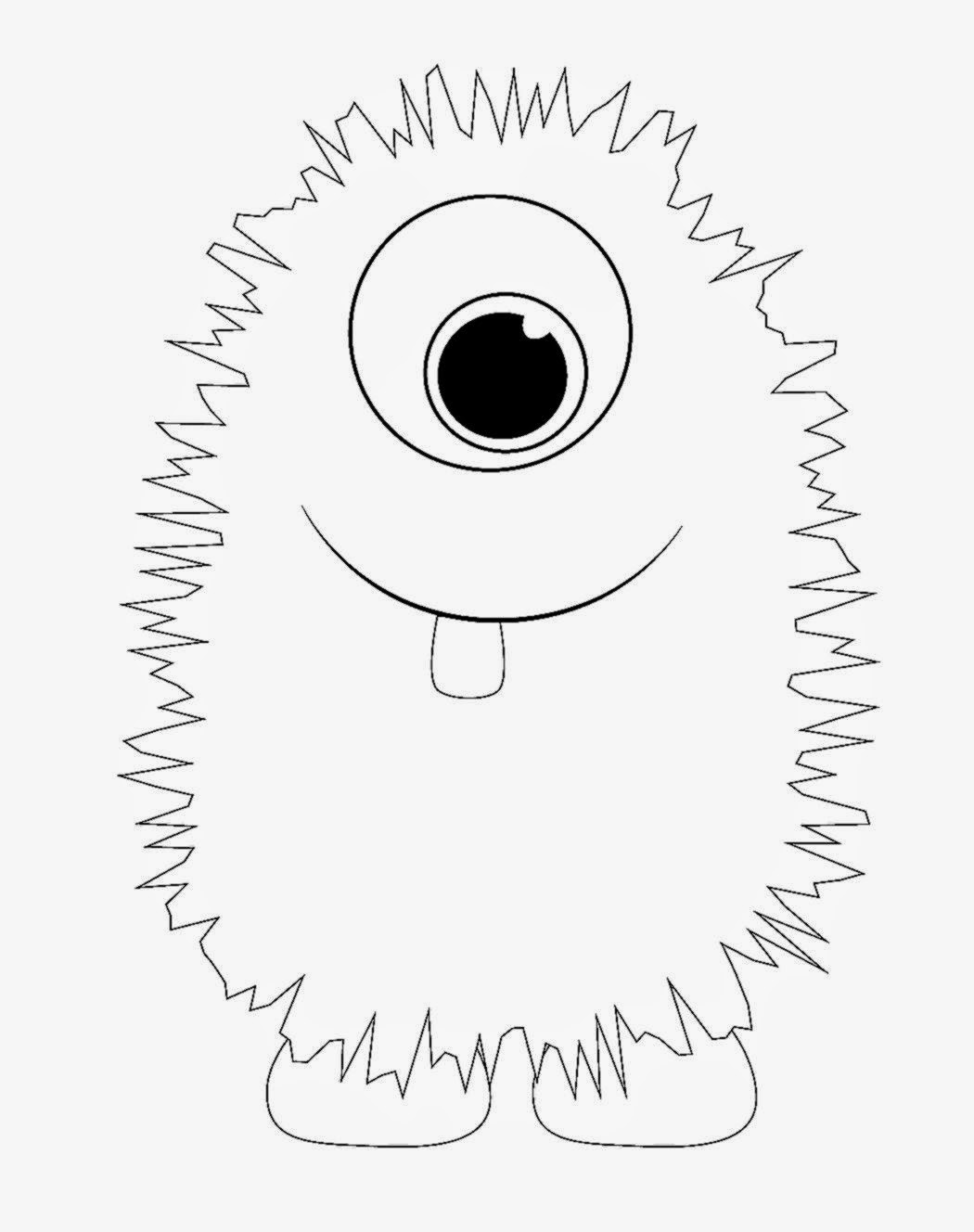 Monster coloring sheets free coloring sheet for Monster coloring pages