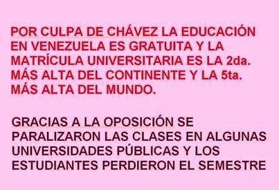 Por culpa de Chávez